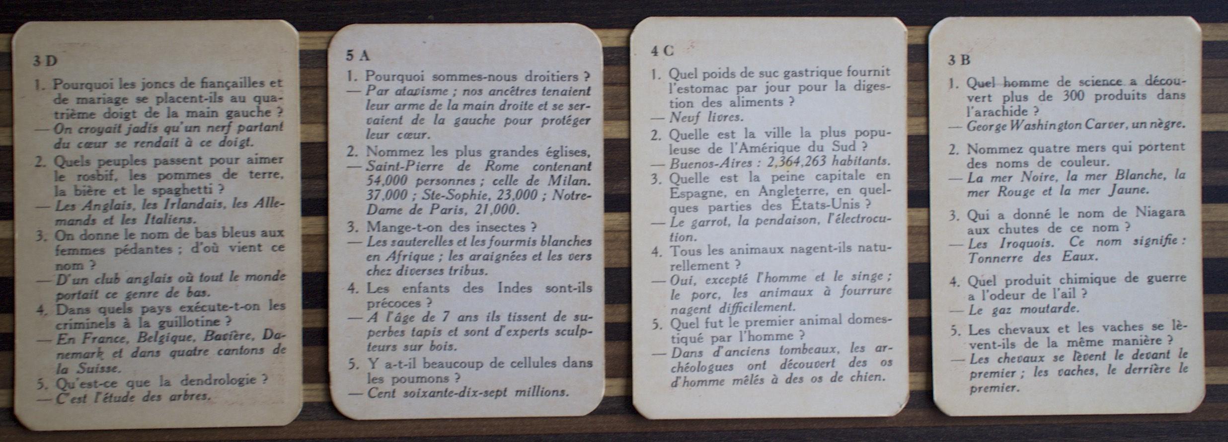 Jeux de cartes encyclopédie
