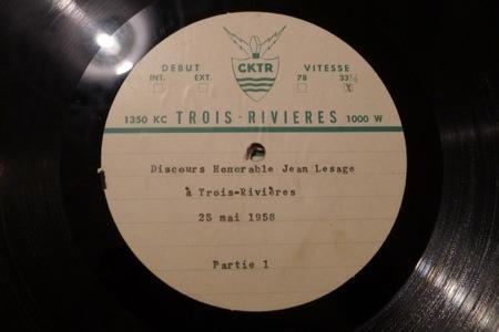 Vinyle de Jean Lesage